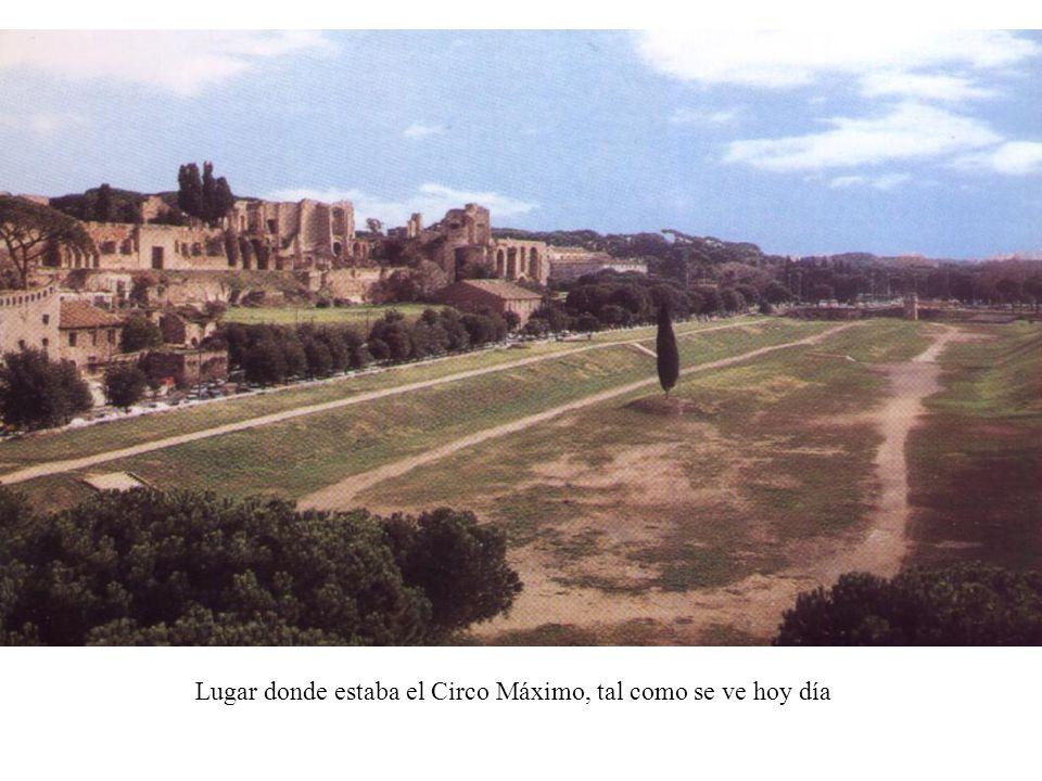 Lugar donde estaba el Circo Máximo, tal como se ve hoy día