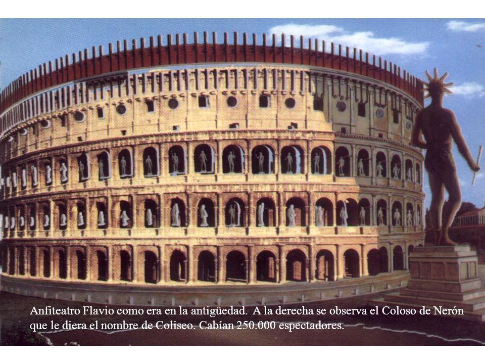 Anfiteatro Flavio como era en la antigüedad
