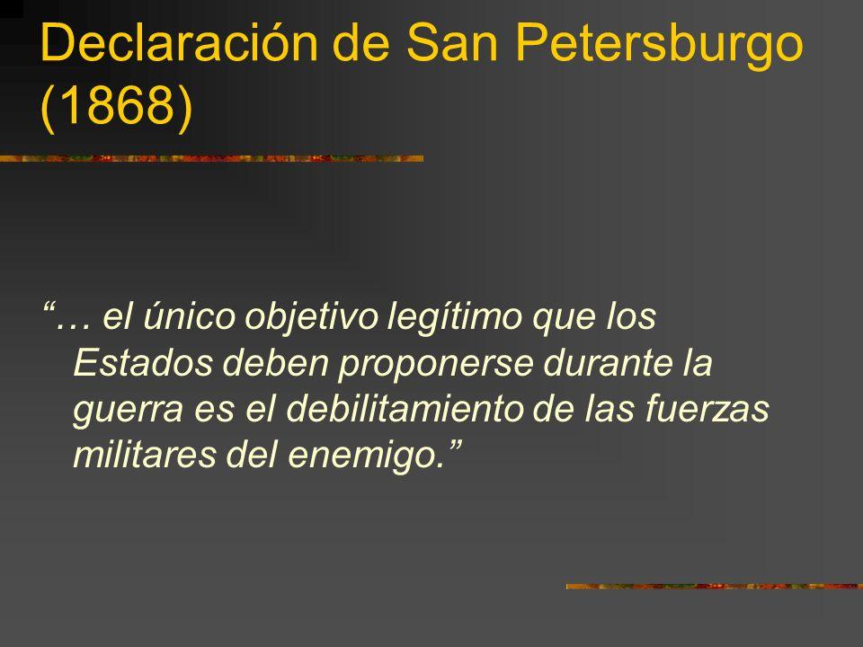 Declaración de San Petersburgo (1868)