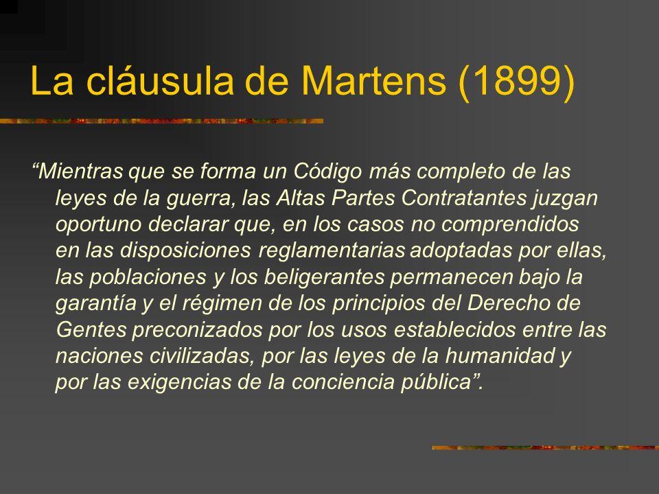 La cláusula de Martens (1899)