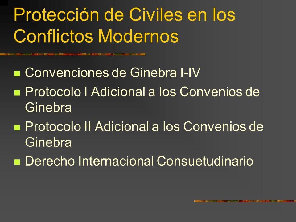 Protección de Civiles en los Conflictos Modernos