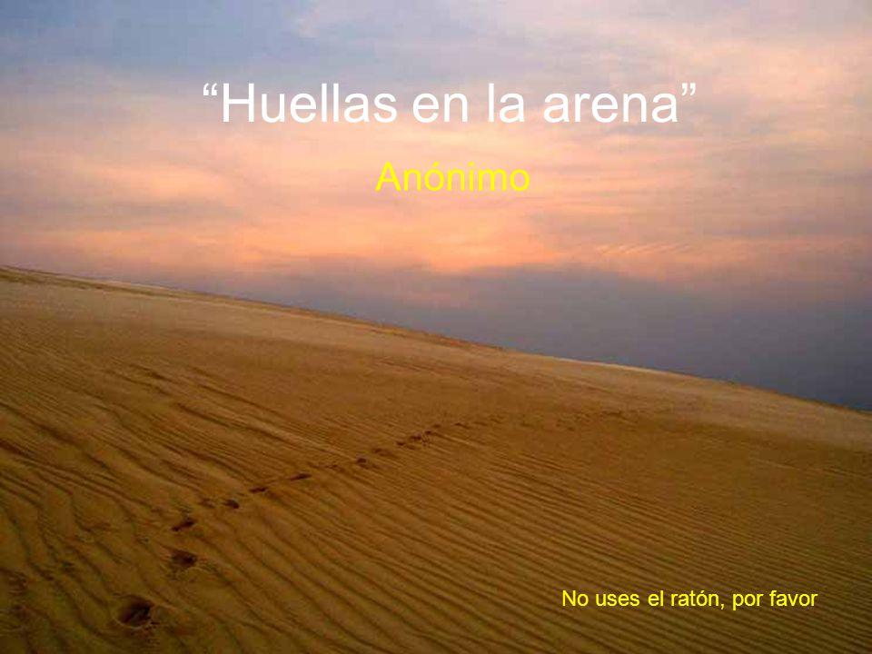 Huellas en la arena Anónimo No uses el ratón, por favor