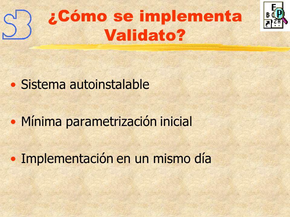 ¿Cómo se implementa Validato