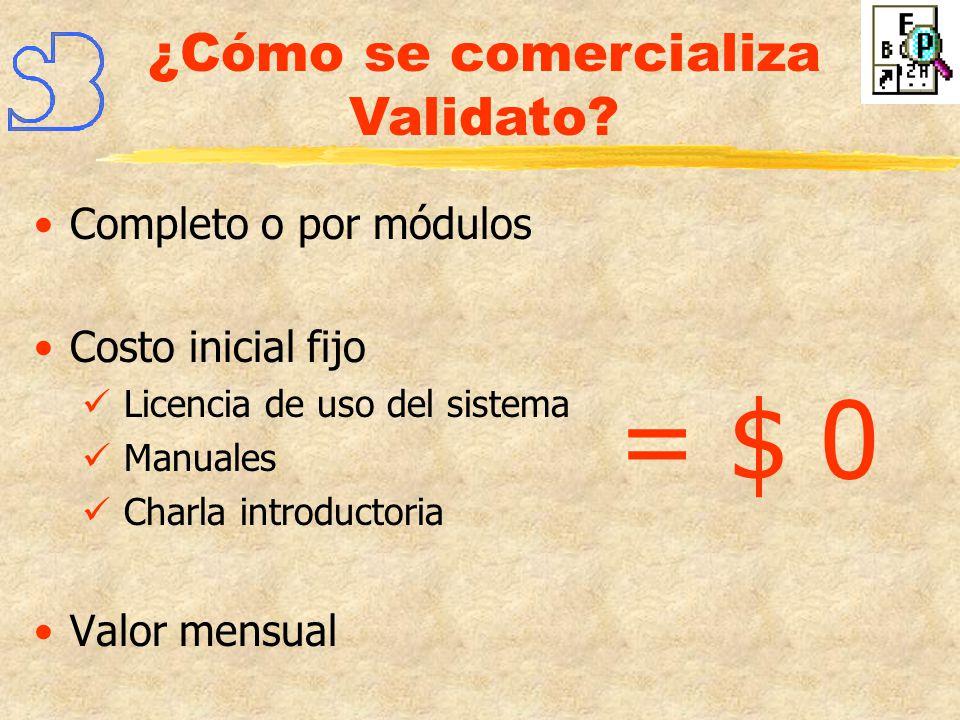 ¿Cómo se comercializa Validato