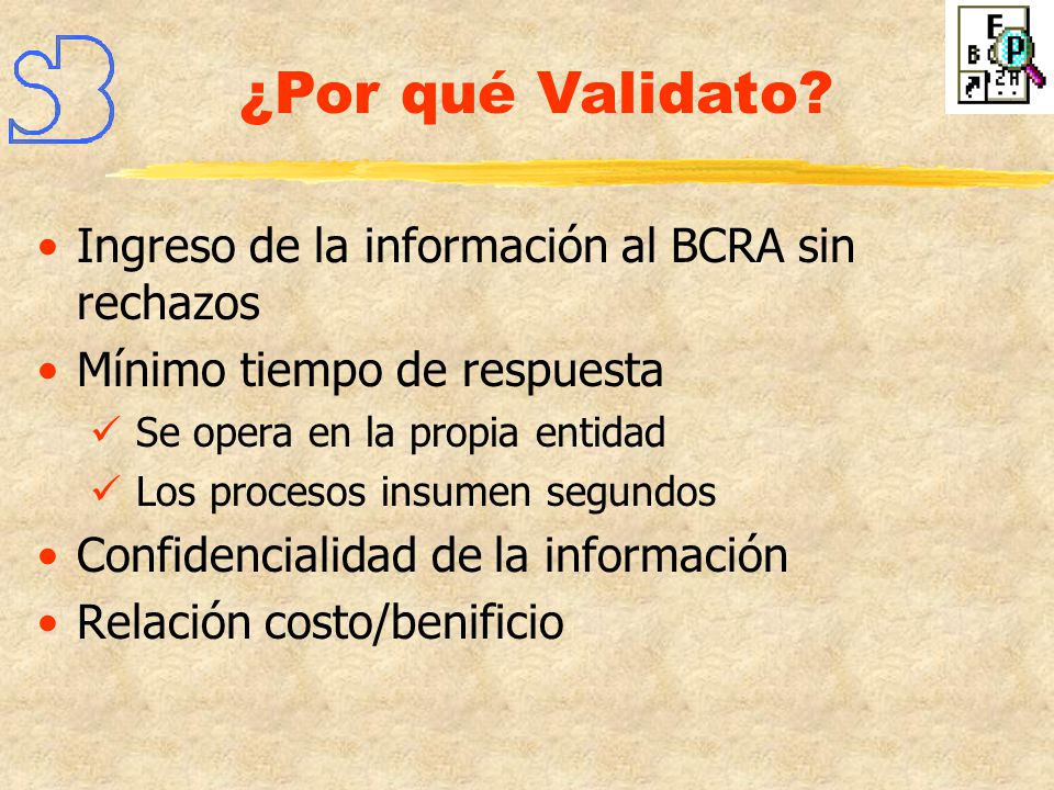 ¿Por qué Validato Ingreso de la información al BCRA sin rechazos