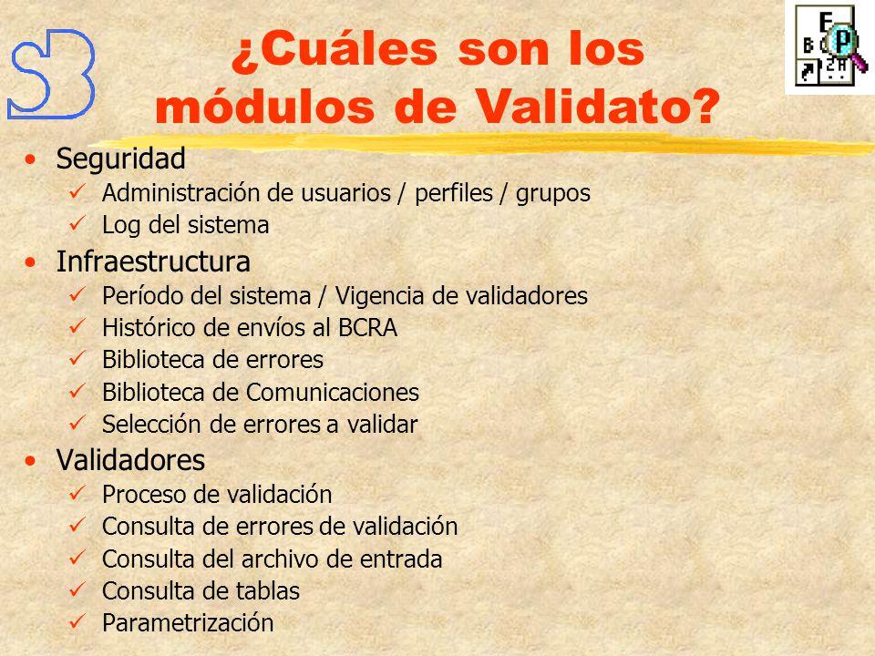 ¿Cuáles son los módulos de Validato