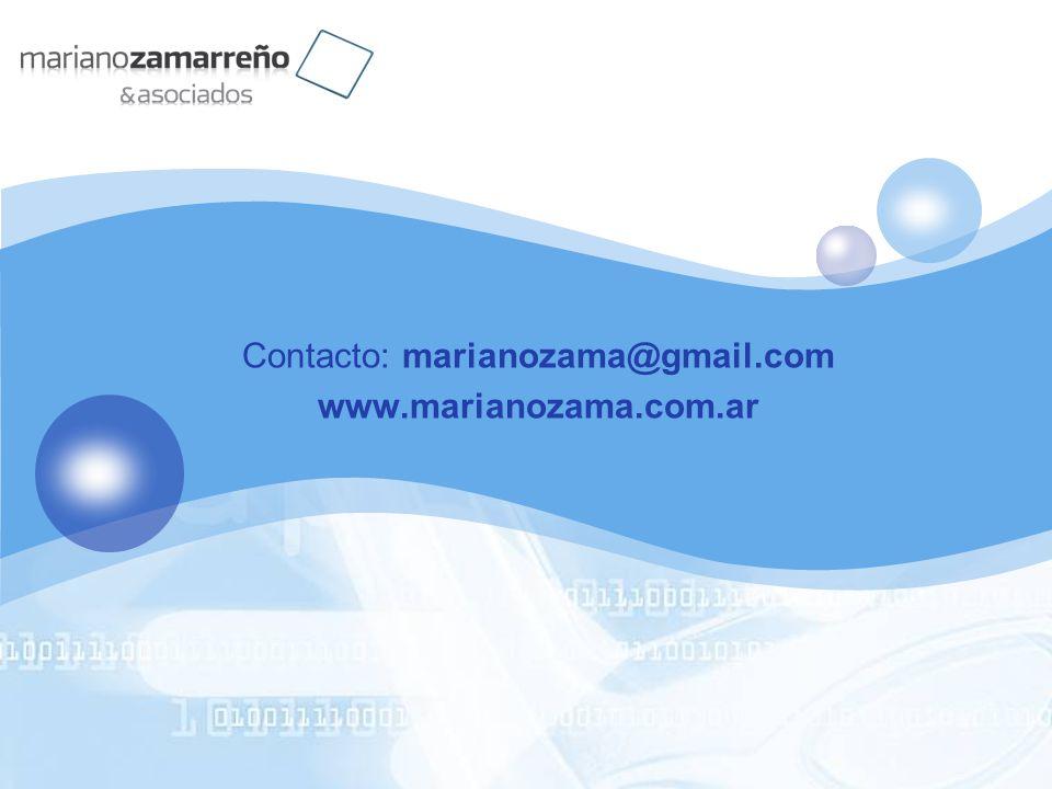 Contacto: marianozama@gmail.com www.marianozama.com.ar