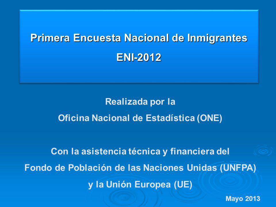 Primera Encuesta Nacional de Inmigrantes ENI-2012