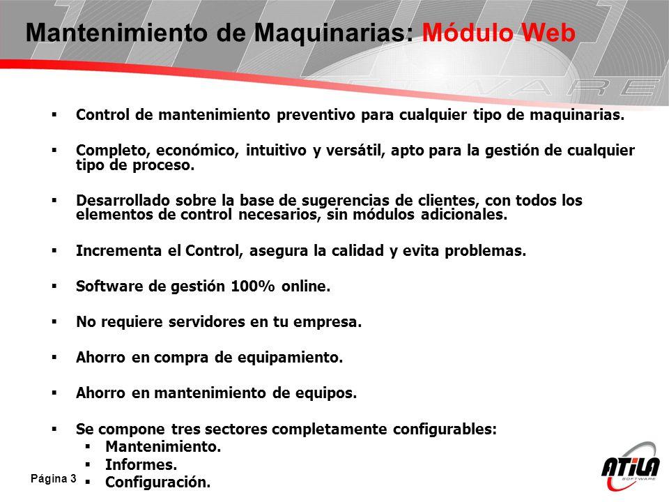 Mantenimiento de Maquinarias: Módulo Web