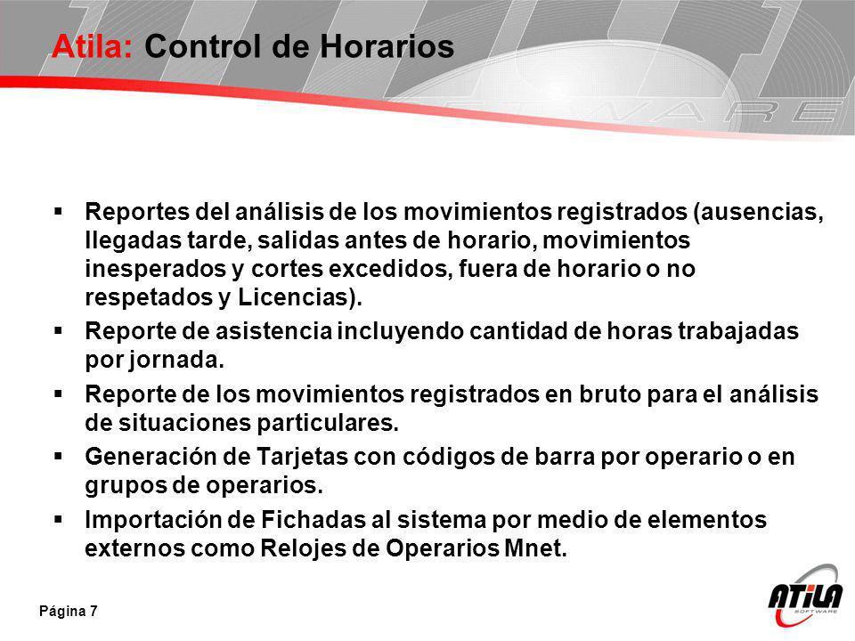 Atila: Control de Horarios