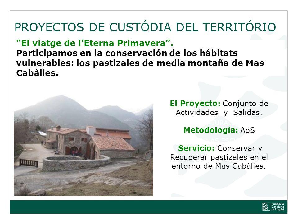 PROYECTOS DE CUSTÓDIA DEL TERRITÓRIO