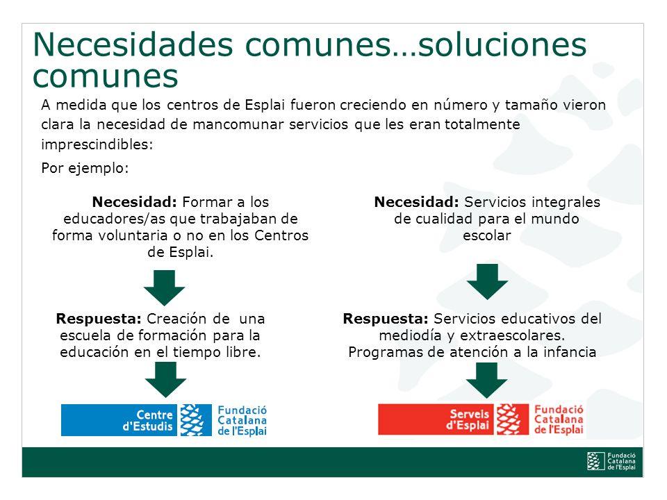 Necesidad: Servicios integrales de cualidad para el mundo escolar