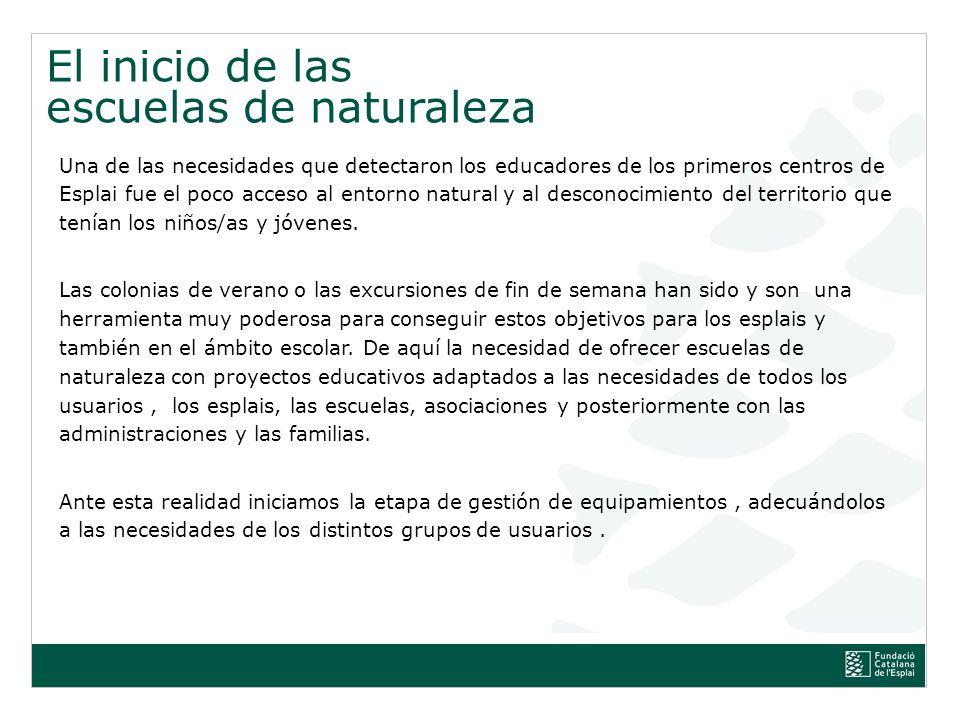 escuelas de naturaleza