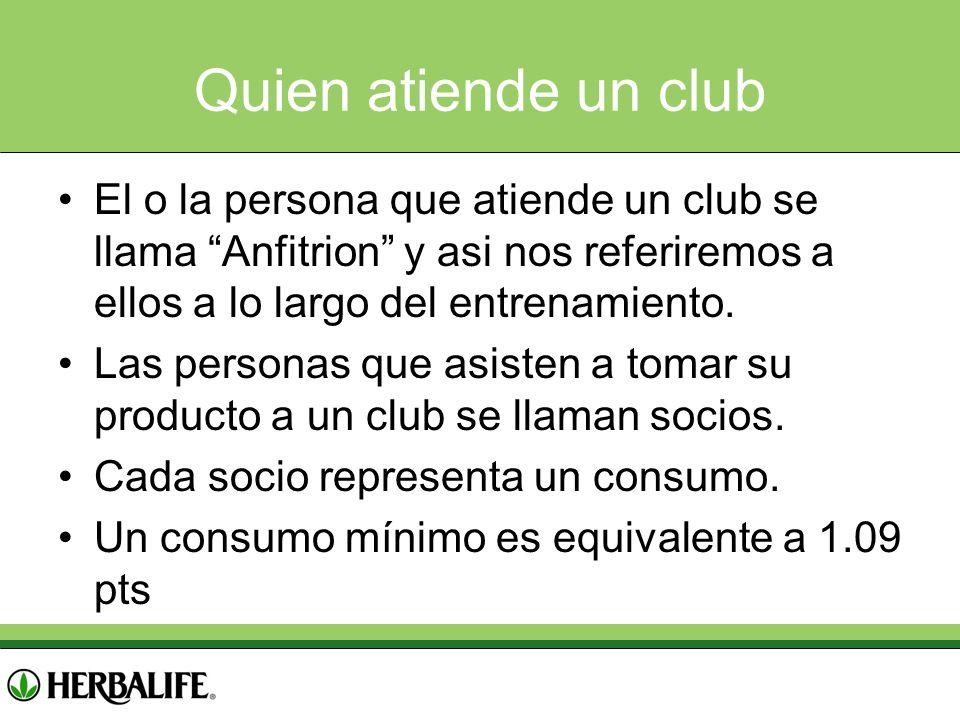 Quien atiende un club El o la persona que atiende un club se llama Anfitrion y asi nos referiremos a ellos a lo largo del entrenamiento.