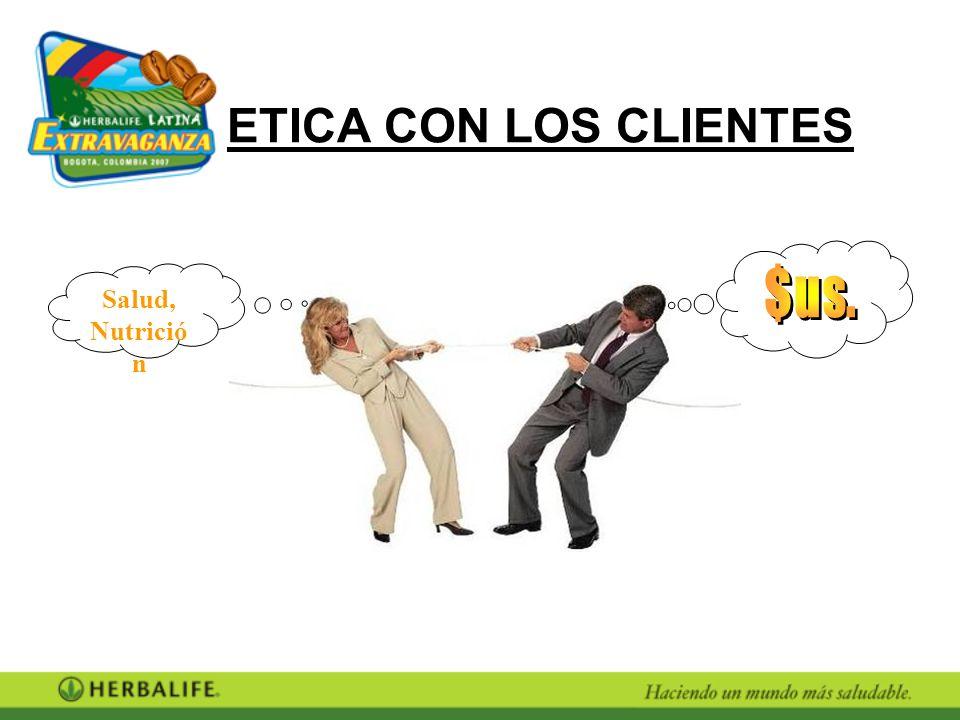 ETICA CON LOS CLIENTES Salud, Nutrición $us.