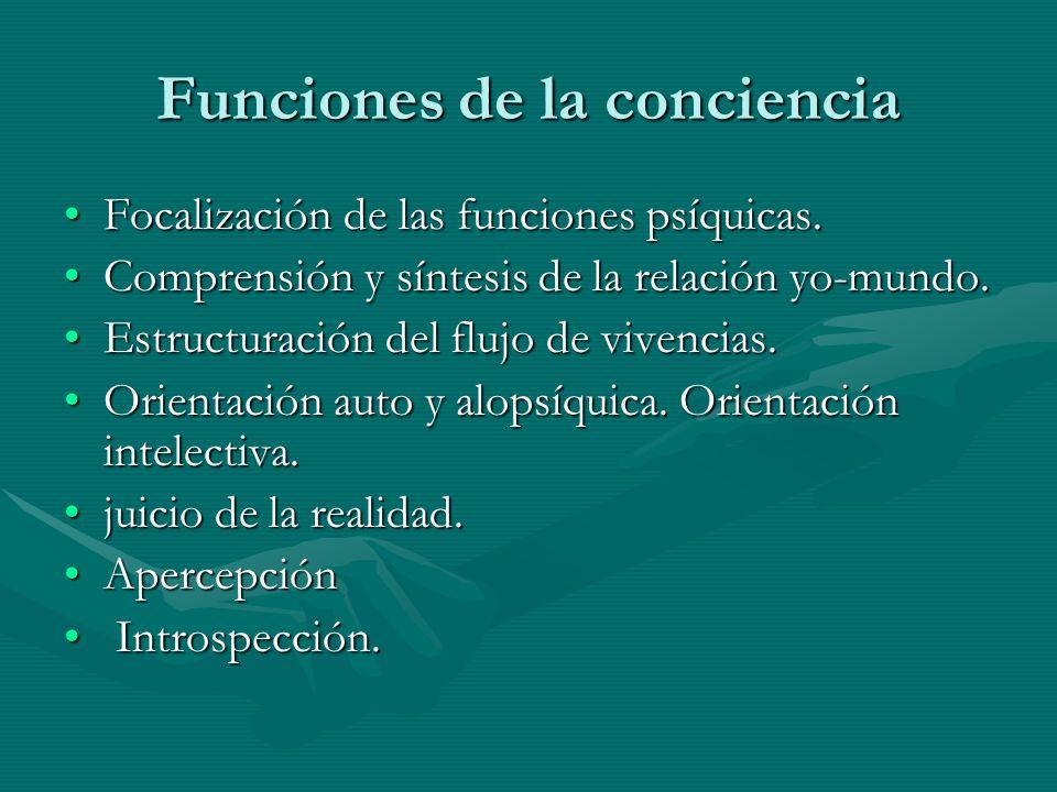 Funciones de la conciencia
