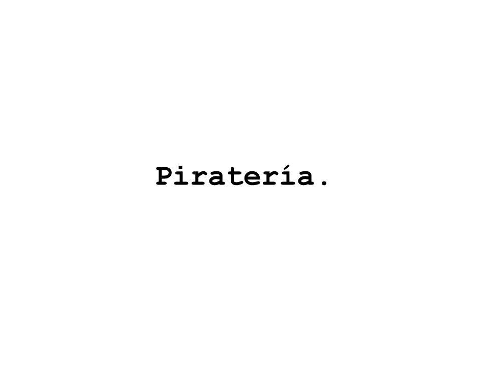 Piratería.