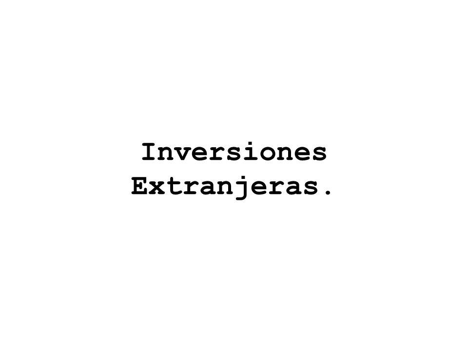 Inversiones Extranjeras.