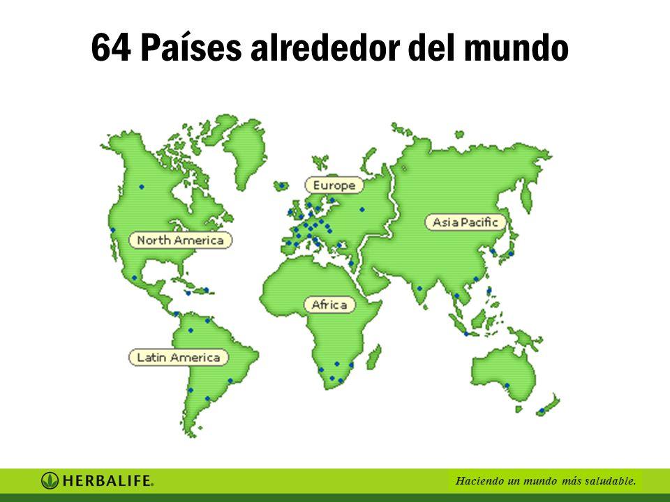 64 Países alrededor del mundo