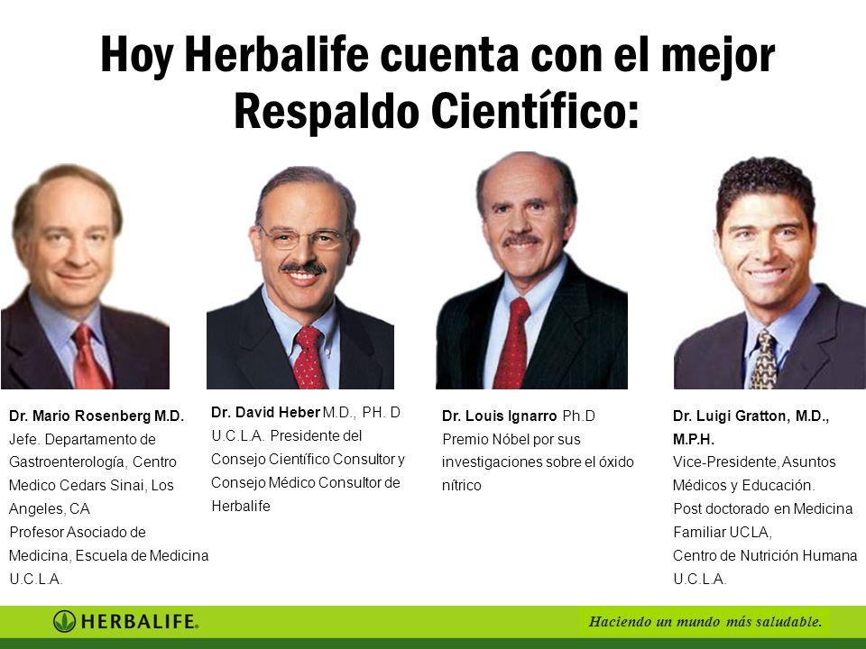 Hoy Herbalife cuenta con el mejor Respaldo Científico: