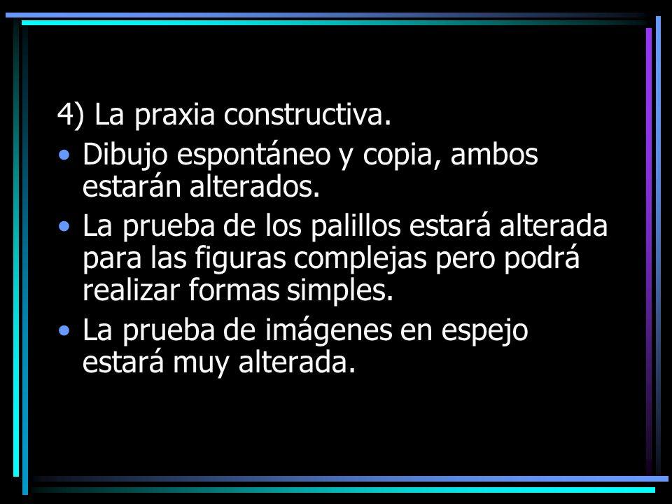 4) La praxia constructiva.