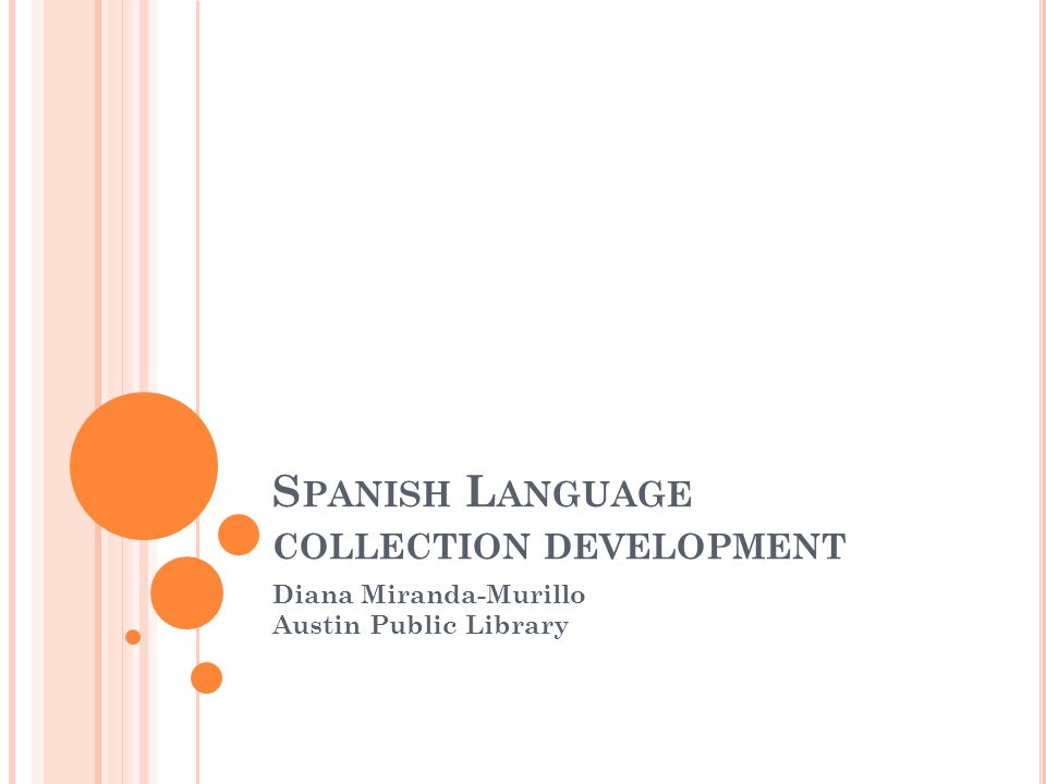 Spanish Language collection development