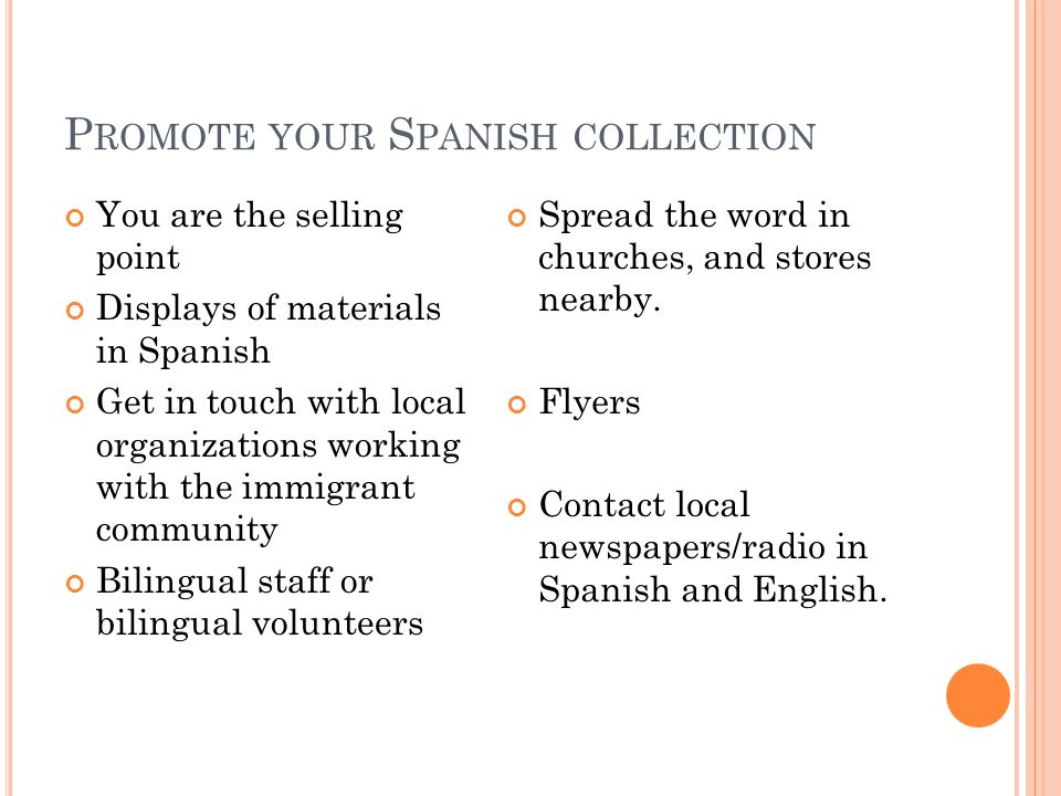 Promote your Spanish collection
