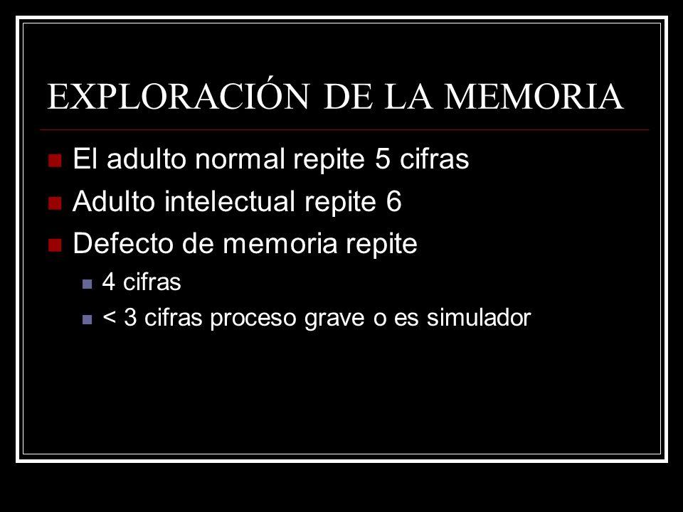 EXPLORACIÓN DE LA MEMORIA