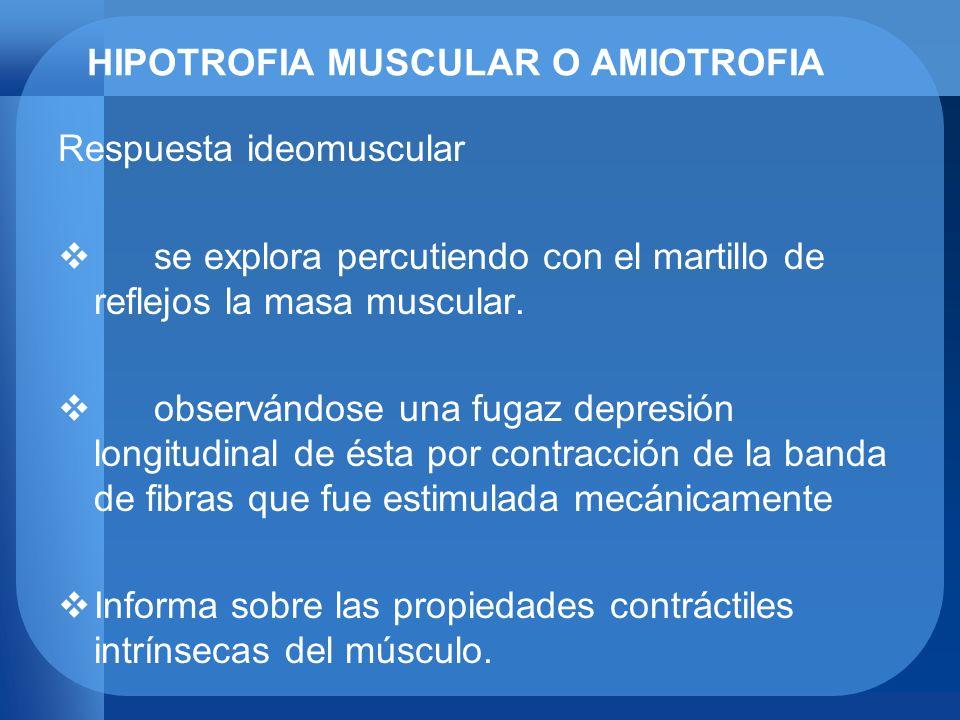 HIPOTROFIA MUSCULAR O AMIOTROFIA