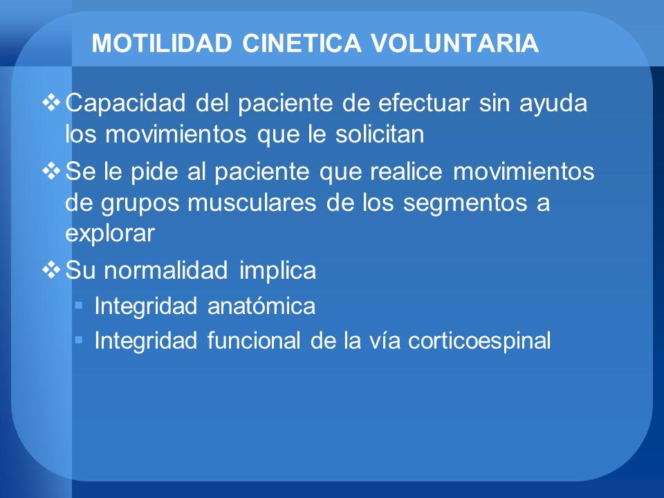 MOTILIDAD CINETICA VOLUNTARIA