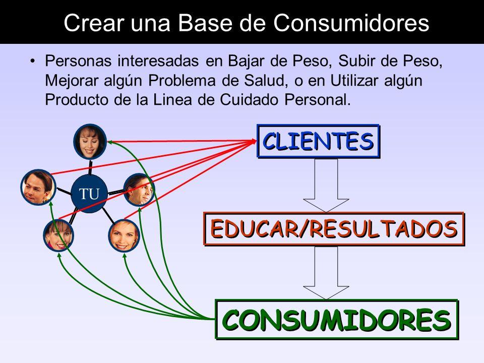 Crear una Base de Consumidores