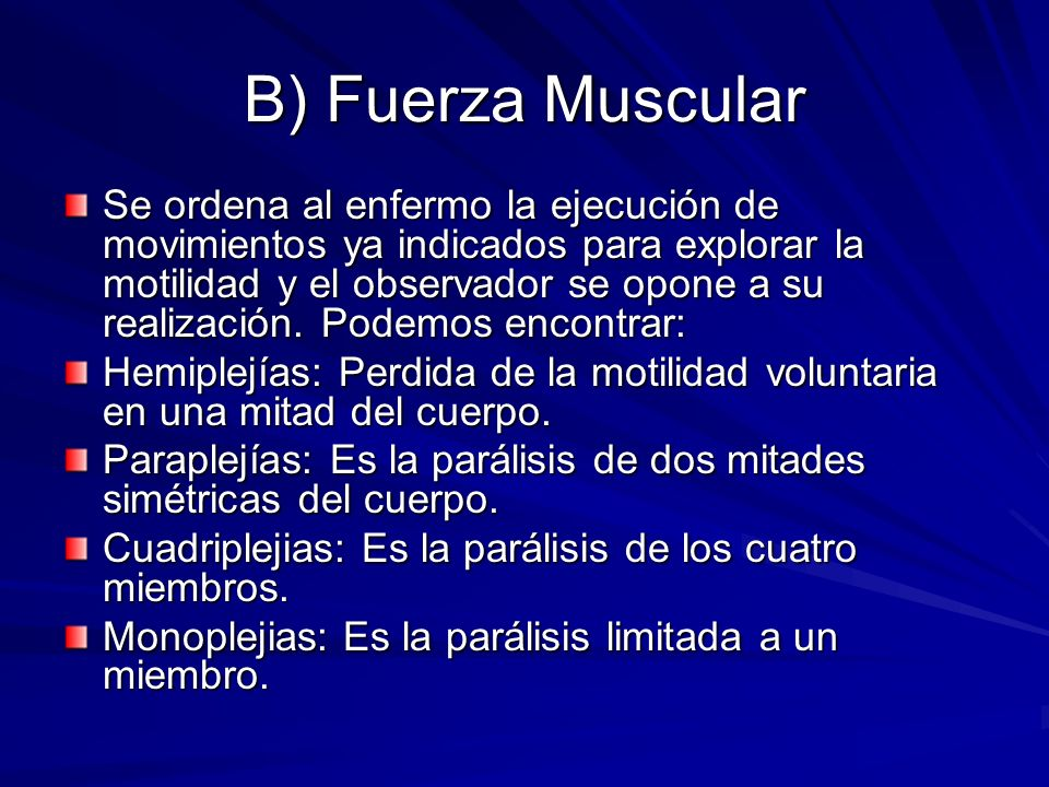 B) Fuerza Muscular