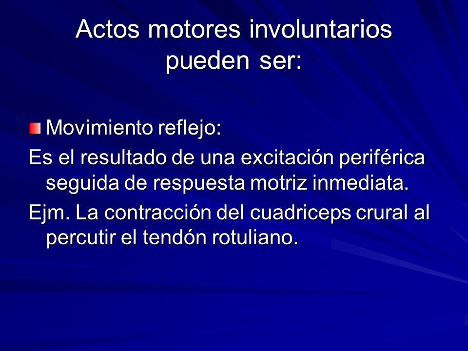 Actos motores involuntarios pueden ser: