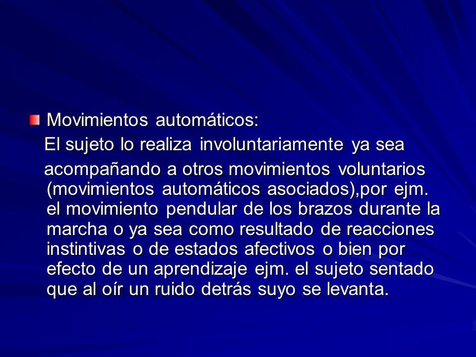 Movimientos automáticos: