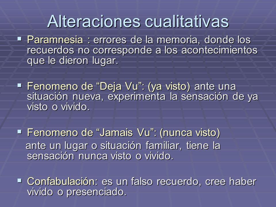 Alteraciones cualitativas