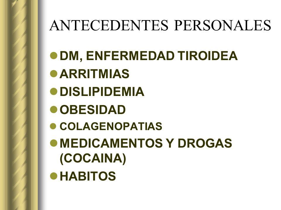 ANTECEDENTES PERSONALES