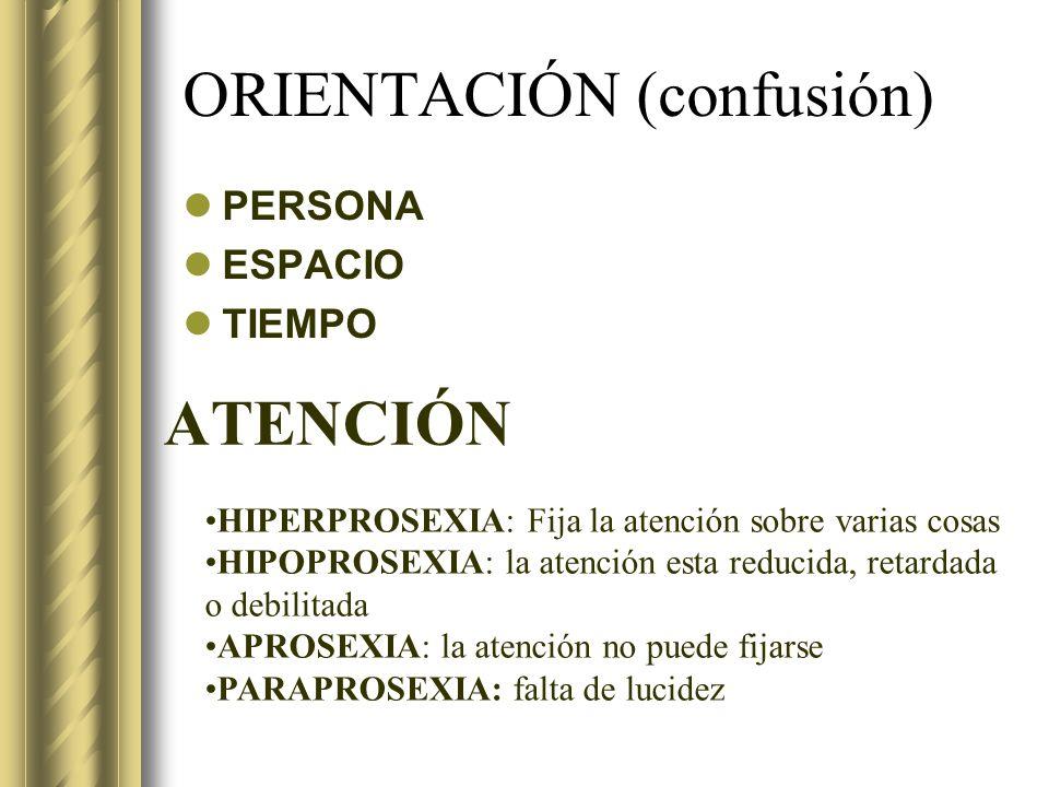 ORIENTACIÓN (confusión)