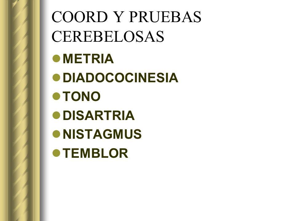 COORD Y PRUEBAS CEREBELOSAS