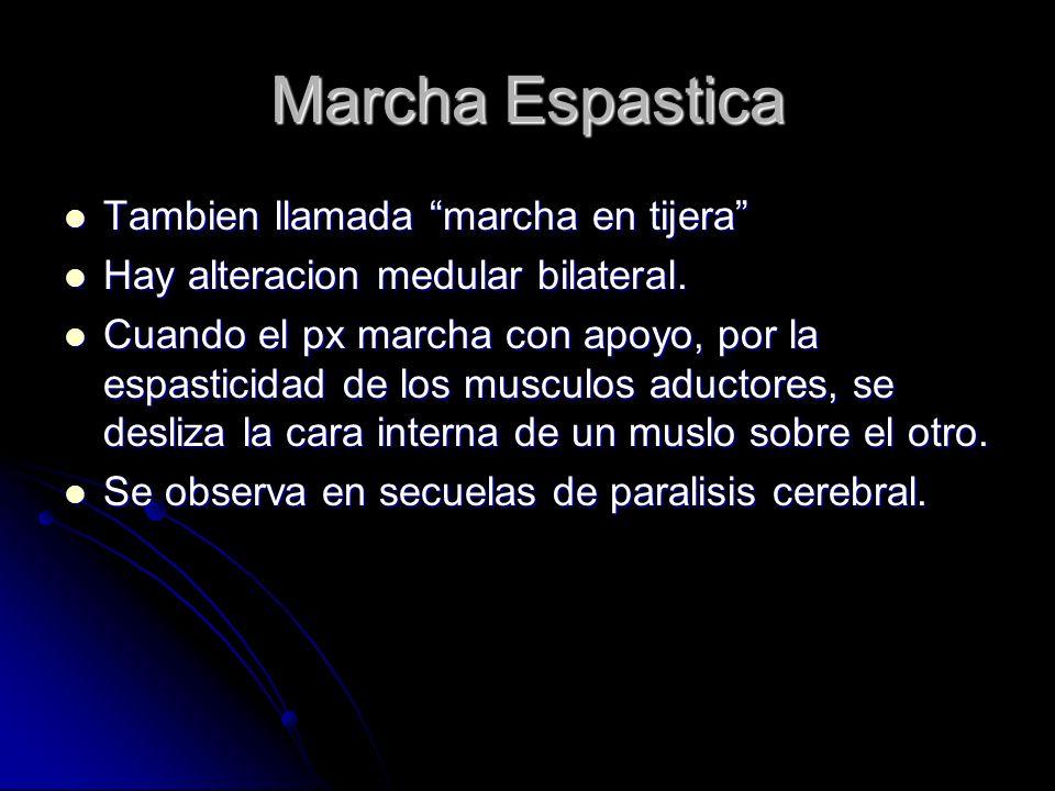 Marcha Espastica Tambien llamada marcha en tijera