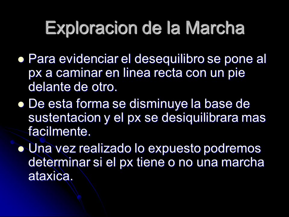 Exploracion de la Marcha