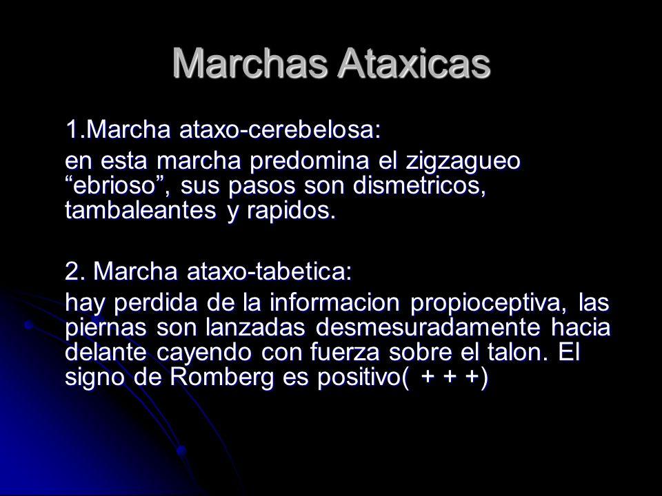 Marchas Ataxicas 1.Marcha ataxo-cerebelosa: