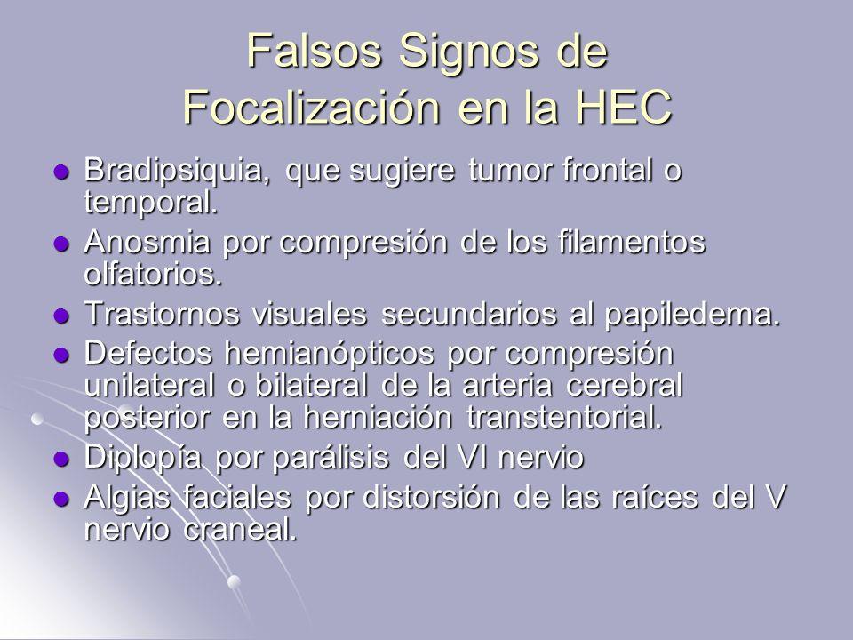 Falsos Signos de Focalización en la HEC