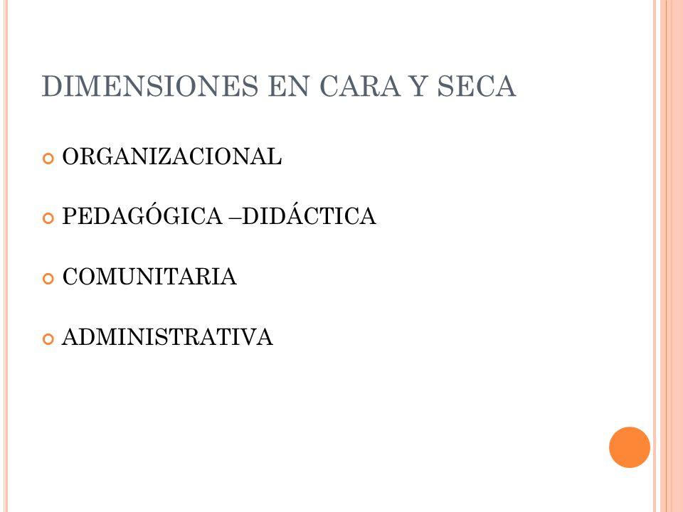 DIMENSIONES EN CARA Y SECA