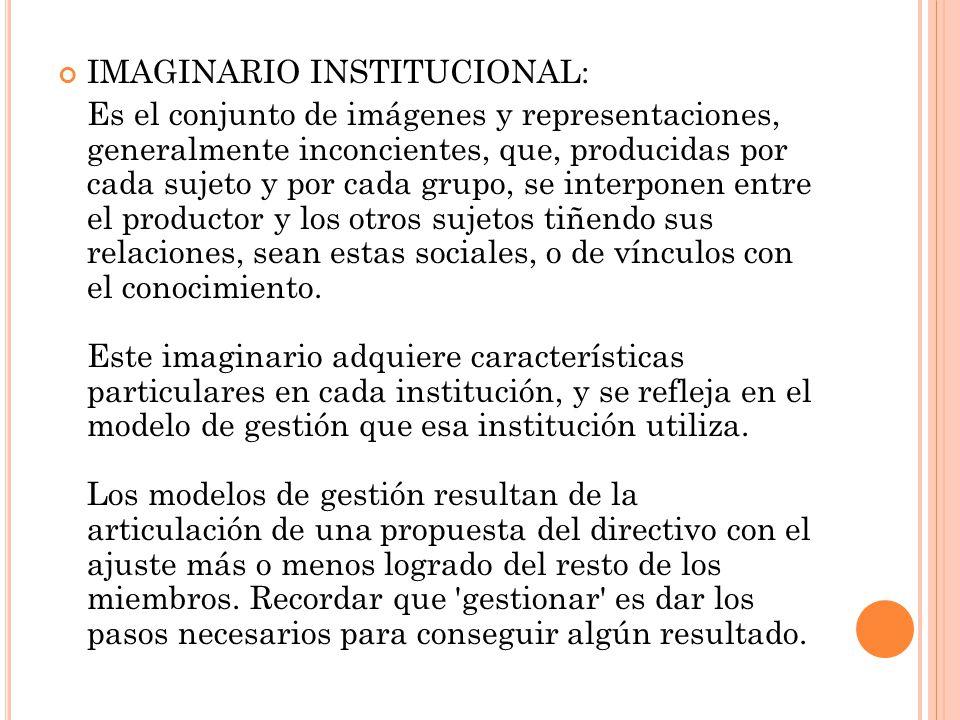 IMAGINARIO INSTITUCIONAL: