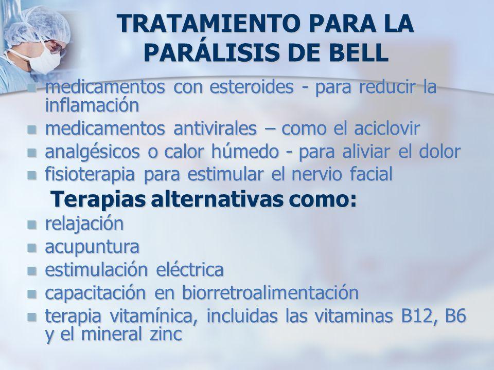TRATAMIENTO PARA LA PARÁLISIS DE BELL