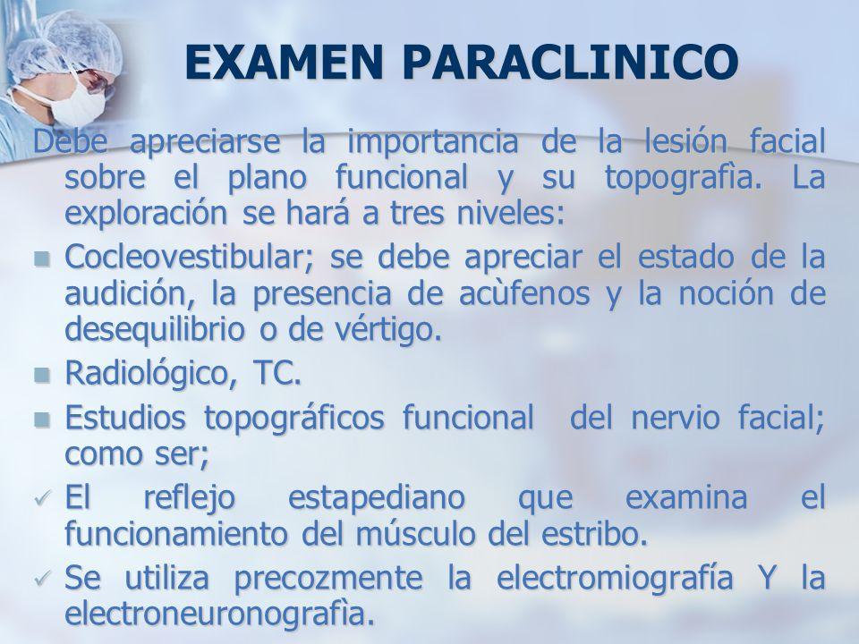 EXAMEN PARACLINICO