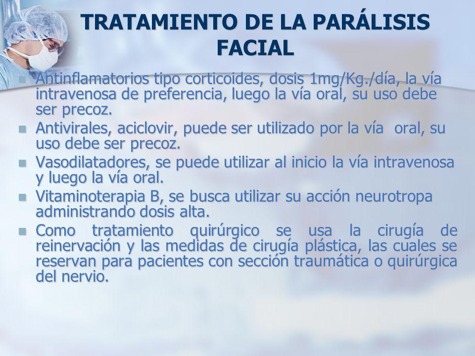 TRATAMIENTO DE LA PARÁLISIS FACIAL