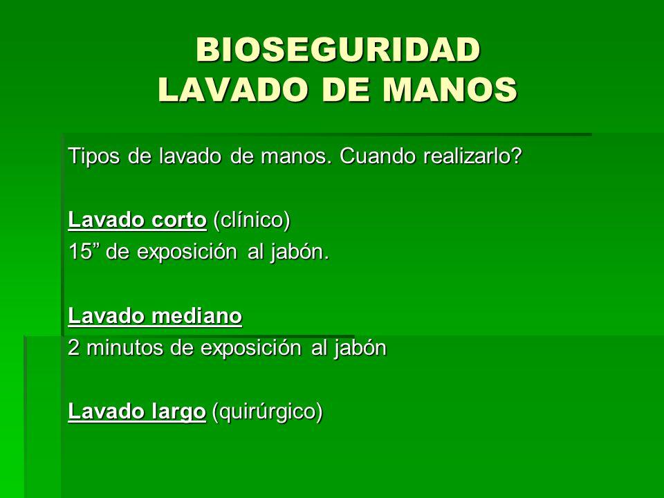 BIOSEGURIDAD LAVADO DE MANOS