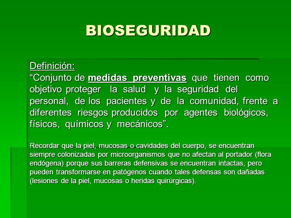 BIOSEGURIDAD Definición: