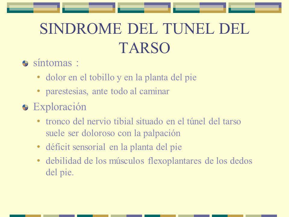 SINDROME DEL TUNEL DEL TARSO